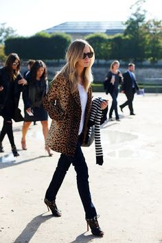 From The Sartorialist...leopard and stripes is awesome!