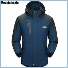 Cheap clothing for older men, Buy Quality clothing beach directly from China clothing deals Suppliers: Mountainskin Men's Jackets Waterproof Spring Hooded Coats Men Women Outerwear Army Solid Casual Brand Male Waterproof Hooded Jacket, Waterproof Coat, Types Of Jackets, Men's Coats And Jackets, Casual Jackets, Rain Jackets, Rain Coats, Raincoats For Women, Outerwear Women