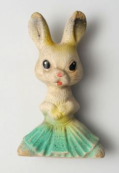 1950s Soviet Russia RUSSIAN  VINTAGE Rubber Toy RABBIT .