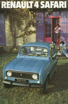 Renault 4 Safari brochure French Classic, Classic Cars, Safari, Citroen Car, City Car, Car Advertising, Car In The World, Small Cars, Vw Bus