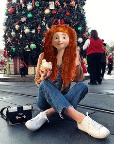Hiccup Y Astrid, Merida And Hiccup, Modern Disney Characters, Disney Divas, Modern Princess, Jelsa, Httyd, Princesas Disney, Disney Wallpaper