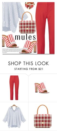 """""""Mules"""" by fshionme ❤ liked on Polyvore featuring Alexander McQueen, Sergio Rossi, Balmain, Mansur Gavriel and mules"""