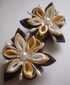 Fabric Flower flores de tela tierra