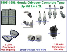 1999 2001 honda odyssey 3 5l v6 tune up kit spark plugs air oil cabin filter pcv pre holiday. Black Bedroom Furniture Sets. Home Design Ideas