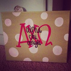 alpha chi omega sorority canvas painting on Etsy