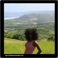 The view from atop Cherry Tree Hill, Barbados W.I.