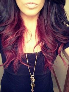Black hair with red highlights on the bottom best black hair 2017 the 25 best black hair red highlights ideas on pmusecretfo Choice Image