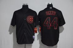 Men's Cubs 44 Anthony Rizzo Black Stitched Baseball Jersey