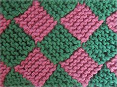 Step by step tutorials - Garterlac stitch pattern