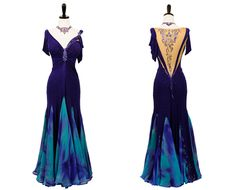 Down By The Sea   Smooth & Standard Dresses   Encore Ballroom Couture