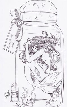 Mermaid in a jar |