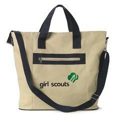 GIRL SCOUT ZIPPER TOTE BAG