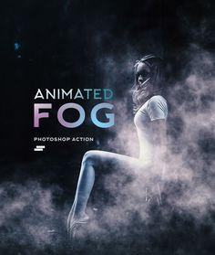 Gif Animated Fog Photoshop Action — Photoshop ATN #atn #animated smoke