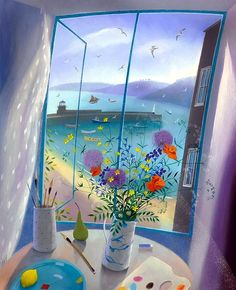 Nicholas Hely Hutchinson - A Window in St Ives Love the freshness of this