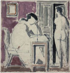 """Yannis Moralis-Study for """"Komposition A"""" 1949 Figure Painting, Greece, Contemporary Art, Draw, Artwork, Poster, Painters, Artists, Graphite"""