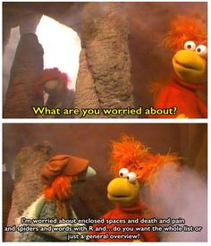 """Red and Boober in the Fraggle Rock episode """"Marooned"""" Rock Meme, Start Trek, Clever Dog, Mom Show, Underground World, Fraggle Rock, The Muppet Show, Cartoons Love, Jim Henson"""
