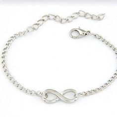 Infinity bracelet Silver Infinity bracelet , NWOT.                             All Jewerly is buy 2 get 25 percent off. Just bundle and ask me to change my sellers discount ! Jewelry Bracelets