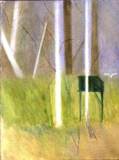Craigie Aitchison: Pigeon House, Tulliallan by Craigie Aitchison Pigeon House, Italian Paintings, British Artists, Colour Splash, Tree Art, Contemporary Paintings, Artist At Work, Still Life, Artworks