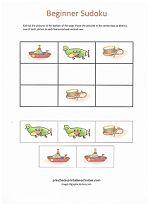 Easy Beginner Sudoku Puzzles for Kids! www.preschool-printable-activities.com