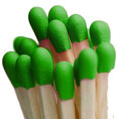 Green match heads