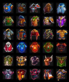 Game Design and concept art schools to make indie game Armor Concept, Weapon Concept Art, Game Concept, Game Ui Design, Prop Design, Armor Games, 2d Game Art, Mobile Art, Game Icon