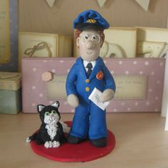 Postman Pat Cake Topper A Other Project By Karacter Krafts  cakepins.com