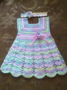 Benzer Calismalar No Related Posts - Diy Crafts - DIY & Crafts Crochet Dress Girl, Crochet Baby Dress Pattern, Baby Girl Dress Patterns, Baby Girl Crochet, Crochet Baby Clothes, Crochet For Kids, Baby Patterns, Baby Girl Frocks, Kids Frocks