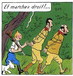La vie de Tintin | Tintin kiffe donner des ordres.