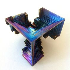 Amazing Large Bismuth Crystal with beautiful rainbow colors and unique shape
