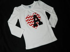 Girl baby toddler chevron heart shirt with by sweetpeppergrass