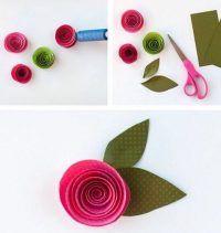 Blumen Aus Papier Basteln basteln sie hübsche sterne für den weihnachtsbaum aus papier