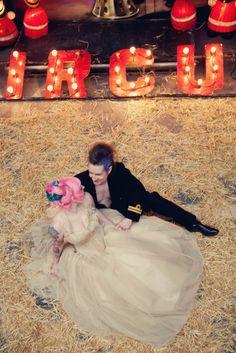 The Fabulous Ms. RocknRoll Bride and her hubbers.  www.rocknrollbride.com