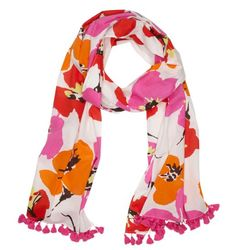 Pink and orange scarf from Kate Spade.