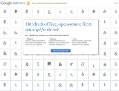Google updated it's interface for open web fonts proudly displaying lots and lots of &'s