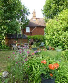 A summer's day in a sunny garden.
