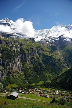 Village of Gimmelwald, Murren, Switzerland | Most Beautiful Pages