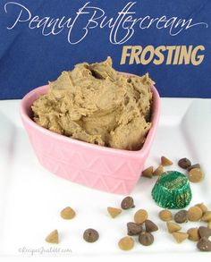 Super rich Butter cream frosting with peanut butter.  This will tempt the sweetest of sweet taste buds.
