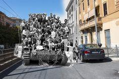 Quel Panzer tedesco parcheggiato in via Casilina 529.