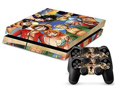 MightySticker PS4 Designer Skin Game Console System plus 2 Controller Decal Vinyl Covers Stickers f Sony PlayStation 4 One Piece Straw Hat Pirates Monkey D Luffy Sexy Nami Boa Hancock Roronoa Zoro Sanji *** Want additional info? Click on the image.