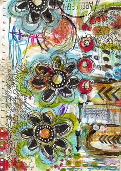 I GET TO art journal page by Robes-Pierre, via Flickr