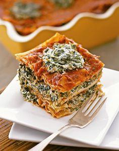 Vegan: Pasta Lasagne Tofu & Spinach