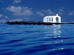 Nicholas chapel at Georgioupolis, Crete island ~ Greece Mykonos, Santorini, Creta, Heraklion, Albania, Beautiful Islands, Beautiful Places, Pale Dogwood, Crete Island