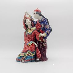 "Shiwan Asian Figurine - ""Man and Wife"""