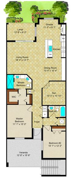 Lennar SWFL's 'Di Angelo' floor plan of the 2 story verandas!