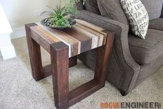Depending on the room you have left after getting a couch and the stuff from Noah: Make this: Scrap Wood Side Table
