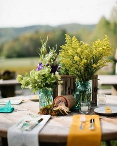 """See the """"Natural Decor"""" in our Real Rehearsal Dinner: Sally and Christian, Walland, Tennessee gallery"""