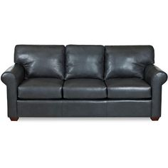 """Canoy"" 91"" Charcoal Leather Sofa - This is the couch I eventually ended up getting. A center point to build the rest of my living room off of."