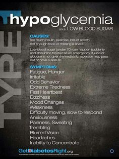 Signs of Hypoglycemia