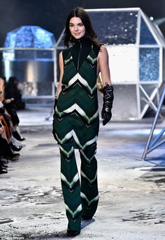 She's back: Kendall Jenner made a return to the catwalk for H&M in Paris on Wednesday, jus...
