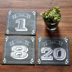 pretty design - Rustic Chalkboard Table Numbers PDF